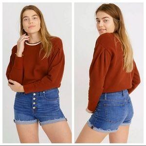 - Madewell high rise denim shorts size 37